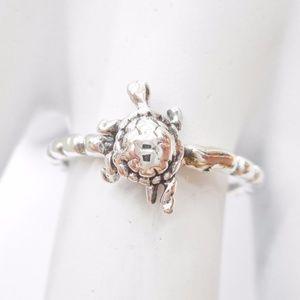 Jewelry - SALE! 🐢 Sterling Silver Turtle Midi Boho Ring 🐢